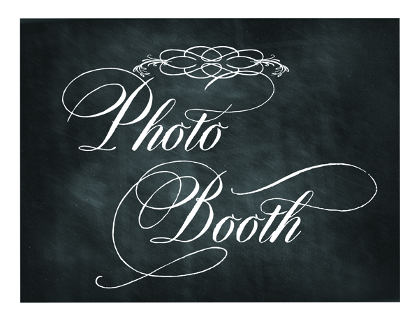 Post image for Free Printable Chalkboard Sign: Photo Booth